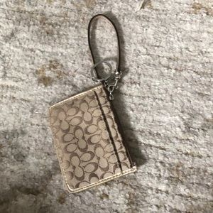 Coach ID tag wallet